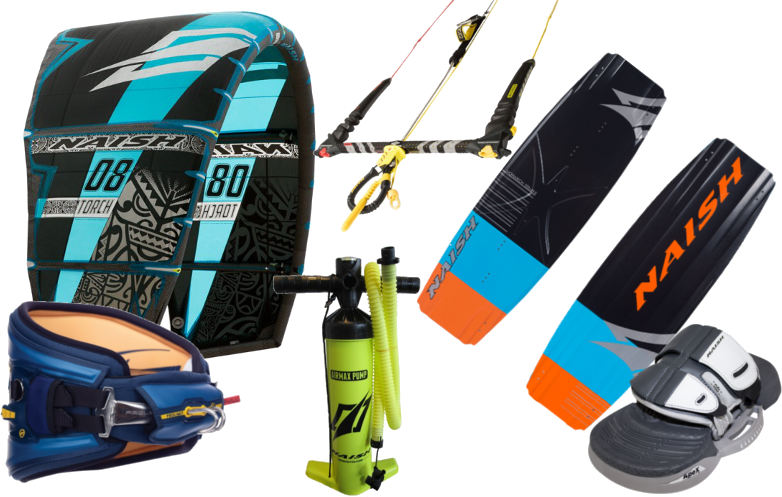 Set kiteboard Naish Monarch 2019 138cm + kite Naish Torch 9m