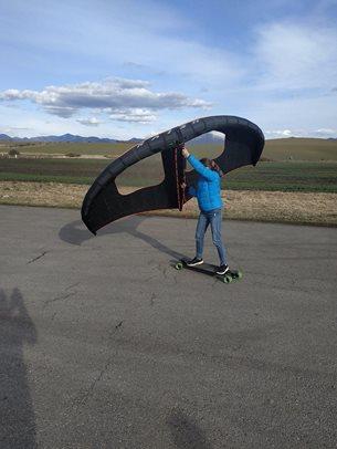Velkonočný wing longboarding - už to ide